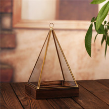 Modern Artistic triangle shape Hanging Glass Terrarium