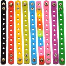 Пользовательские цвета Детские силиконовые браслеты DIY Браслет