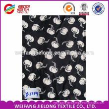 Printed Rayon Crinkle Fabric, 100% Printed Spun Rayon Fabric