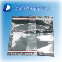 Sacos de empacotamento ziplock transparentes de 500g / sacos de plástico resealable do produto comestível que embalam o saco para porcas