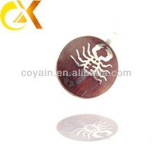 china alibaba Stainless Steel Jewelry men's pendant, custom scorpion circle pendant