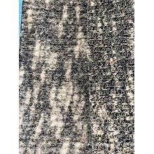 Tecido de suéter com nervuras e escova