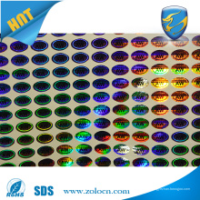 Impresión ULTRAVIOLETA ULTRAVIOLETA del regalo de la impresión uso anti-falso etiqueta engomada del holograma del oem