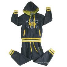 Conjuntos de traje de invierno de lana para niños en ropa de niños con trajes de chaqueta de capucha Swb-105