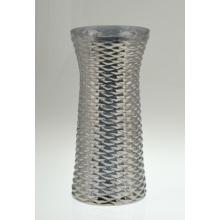 Цилиндрическая стеклянная ваза французского серого цвета