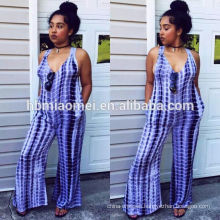 2017 Strap Backless Wide Leg Custom Woman Bodycon Jumpsuits