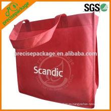 La bolsa de asas no tejida reciclada 100% de los PP para la tienda de comestibles