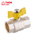 """1/2"""" Female Thread Brass Gas Ball Valve Two Way Brass Ball Valve with Aluminum Butterfly Handle in Heavy Duty"""