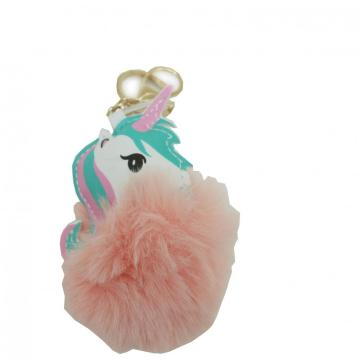 PONY PINK PLUSH KEY CHAIN-0