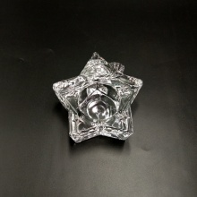 Star shape glass candle holder for Christmas