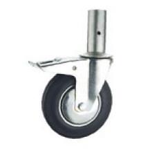 Roulette industrielle en caoutchouc noir Kixx5 (KIXX5)