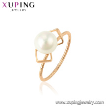 15340 xuping new latest gold ring designs romantic white pearl for party accessories for women jewelry
