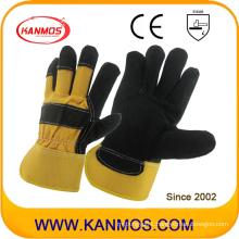 Industrial Safety Genuine Cow Split Leather Work Gloves (11012)