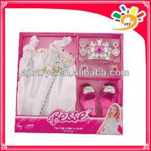 Neueste hübsche Prinzessin Kleider, Prinzessin dress up Set Spielzeug für Mädchen mit Schuhen, Zauberstab und Krone