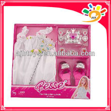 Latest pretty princess dresses,princess dress up set toy for girls with shoes,wand and crown