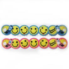 Soft PVC Wristband com Snap-Fastener