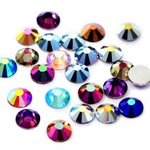 Low Price Round Shape Rhinestones Crystal Ab Glass Rhinestones In Bulk For Jewelry