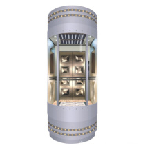 1600kg Panoramic Elevator with Machine Roomless