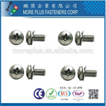 Hecho en Taiwán Phillips Indent Hex Arandela Tornillos y combinación Interno Tooth Lock Arandelas Assembled SEMS Tornillos