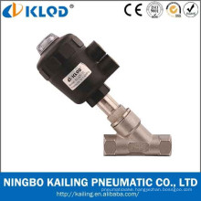 KLQD brand pneumatic thread angle seat valve for water air