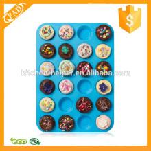 Fácil de Almacenar 24 Cup Silicona Mini Muffin Pan