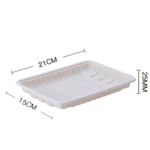 Starch-based biodegradable disposable plastic plate