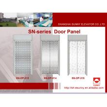 Painel da porta do elevador com teste padrão da folha de plátano (SN-DP-313)
