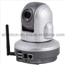 640 * 480 VGA USD caméra réseau de stockage de pilote, caméra Internet IP, caméra Web (IP-06W)