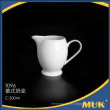 Eurohome fábrica al por mayor de porcelana blanca de vajilla de leche de los barcos