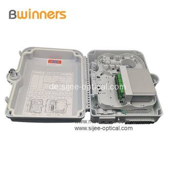 16 Core Fiber Optic Distribution Splitter Box für die Wandmontage