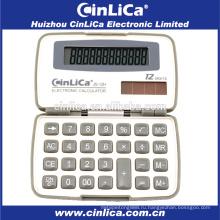 JS-12H рекламный мини-белый и серый карманный калькулятор