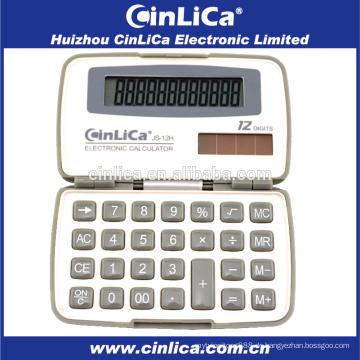 JS-12H Werbe-Mini weiß und grau Taschen Taschenrechner