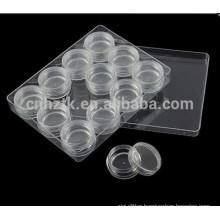 3g 5g 10g jewelry transparent box cosmetic cream jar 12pcs sets travel kit cream jar Nail bottles