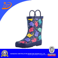 Cute Kids Rubber Rain Boots with Handles