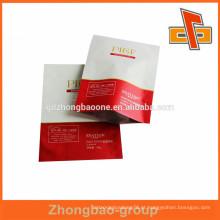 OEM personalizado impressão Saco de alumínio folha / selo de calor lado 3 embalagem saco máscara facial na China