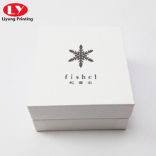 New handmade gift paper box with necklace