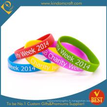 Bracelet en silicone personnalisé pour la promotion 2015 (KD-1817)