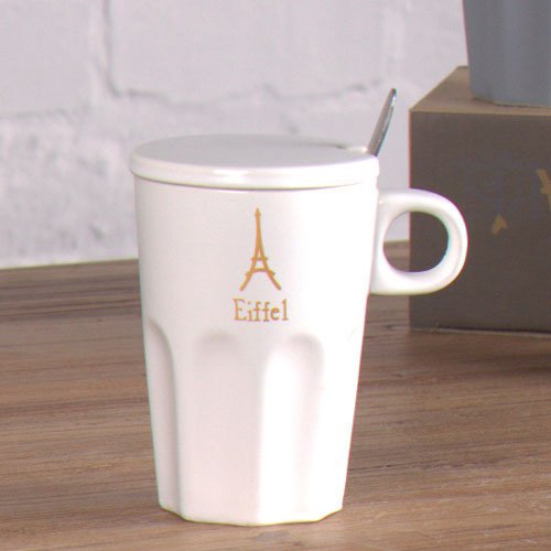 white effect coffee mug