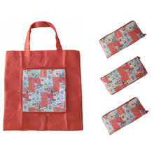 Foldable pp nonwoven shopping tote bag with zipper