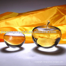 Smooth Clear Crystal Apple for Hotel Decoration with High Quality in 2016