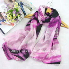 100% шелковый продолговатая шарф