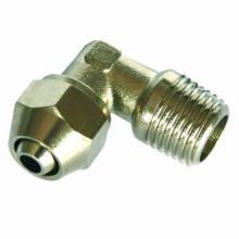 Neumático Fitting/One toque latón conexión (conector macho codo)