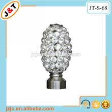 Doble varilla de metal flexible de la varilla fijada con la cortina del diamante finial
