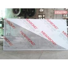 Panel compuesto de aluminio recubierto de PVDF perforado