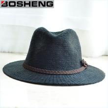 Moda Retro Unisex Verano Sun sombrero de paja de ala ancha