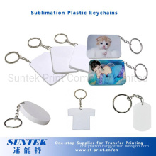 Wholesale Sublimation Blank Plastic Key Chain