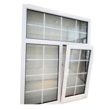 upvc tilt et tourner de grandes fenêtres en verre en Chine