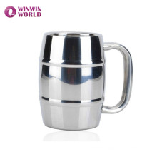 Ibarrel Shaped Insulated Stainless Steel Beer Mug