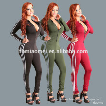 Factory manufacture clothing women custom printing black jumpsuit with mesh hollow-out