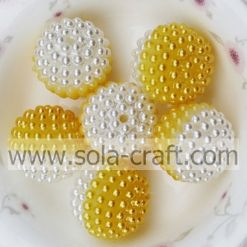 Online Sale Yellow Color Plastic Berry Beads For Jewelry 19MM